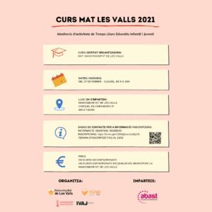 Monitor/a de Actividades de Tiempo Libre Educativo Infantil y Juvenil (MAT) - Les Valls - Febrero 2021