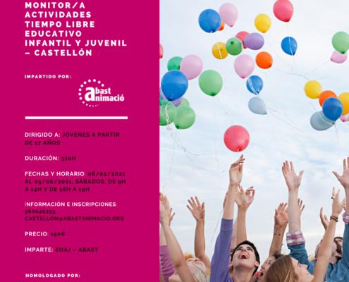 Monitor/a de Actividades de Tiempo Libre Educativo Infantil y Juvenil (MAT) - Castellón, Julio 2020- copy