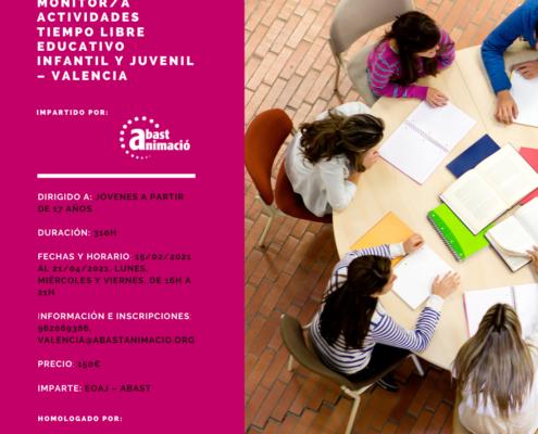 Monitor/a de Actividades de Tiempo Libre Educativo Infantil y Juvenil (MAT) - Valencia, Octubre 2020